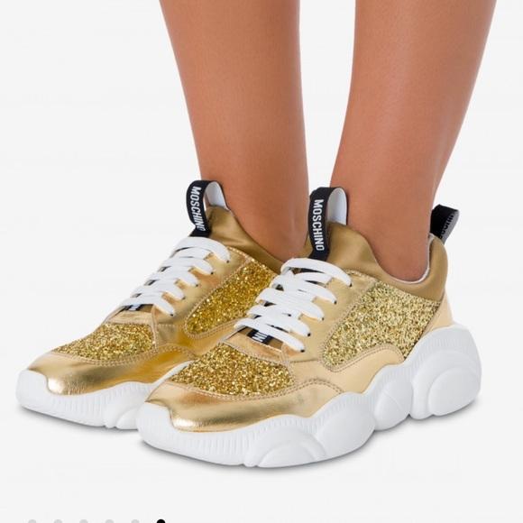 Moschino Glitter Teddy Bear Sneakers